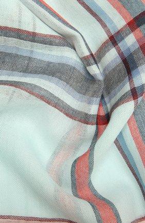 Мужской шерстяной шарф JOHNSTONS OF ELGIN голубого цвета, арт. WD001093 | Фото 2 (Материал: Шерсть)