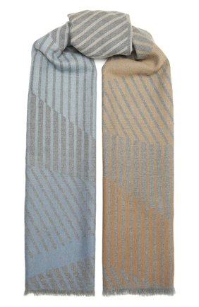 Мужской шерстяной шарф JOHNSTONS OF ELGIN разноцветного цвета, арт. WD001669 | Фото 1 (Материал: Шерсть)