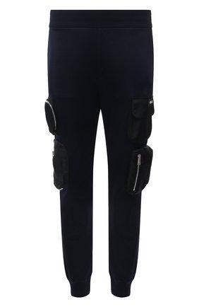 Мужские джоггеры из вискозы и хлопка VERSACE темно-синего цвета, арт. 1001414/1A00658 | Фото 1 (Материал внешний: Вискоза, Хлопок; Длина (брюки, джинсы): Стандартные; Силуэт М (брюки): Карго, Джоггеры; Стили: Гранж)