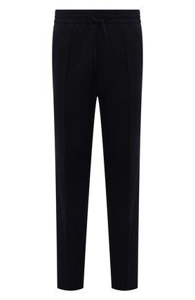 Мужские шерстяные брюки VERSACE черного цвета, арт. 1001015/1A00899 | Фото 1 (Длина (брюки, джинсы): Стандартные; Материал внешний: Шерсть; Случай: Повседневный; Стили: Кэжуэл)