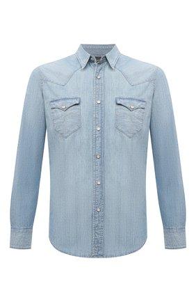 Мужская джинсовая рубашка RRL голубого цвета, арт. 782796403 | Фото 1