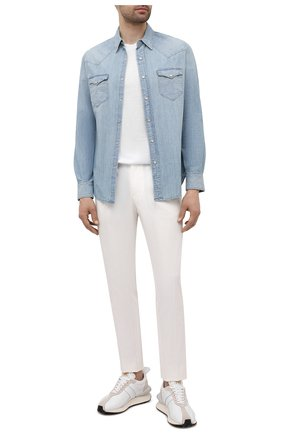 Мужская джинсовая рубашка RRL голубого цвета, арт. 782796403 | Фото 2