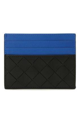 Мужской кожаный футляр для кредитных карт BOTTEGA VENETA черного цвета, арт. 635057/VCPQ5 | Фото 1