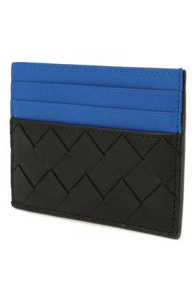 Мужской кожаный футляр для кредитных карт BOTTEGA VENETA черного цвета, арт. 635057/VCPQ5 | Фото 2