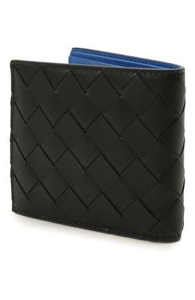 Мужской кожаное портмоне BOTTEGA VENETA черного цвета, арт. 605721/VCPQ6 | Фото 2