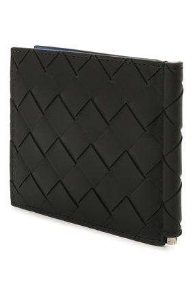 Мужской кожаный зажим для денег BOTTEGA VENETA черного цвета, арт. 592626/VCPQ6 | Фото 2