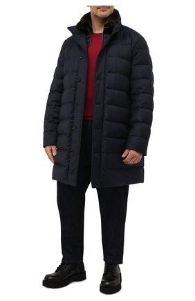 Мужская пуховик из шерсти и кашемира alfieri-fur-l MOORER темно-синего цвета, арт. ALFIERI-FUR-L/M0UGI100104-TEPA217 | Фото 2 (Материал подклада: Синтетический материал; Материал внешний: Шерсть; Кросс-КТ: Куртка; Стили: Классический; Рукава: Длинные; Длина (верхняя одежда): До колена; Мужское Кросс-КТ: пуховик-длинный; Материал утеплителя: Пух и перо)