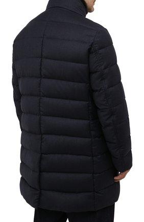 Мужская пуховик из шерсти и кашемира alfieri-fur-l MOORER темно-синего цвета, арт. ALFIERI-FUR-L/M0UGI100104-TEPA217 | Фото 4 (Кросс-КТ: Куртка; Мужское Кросс-КТ: пуховик-длинный; Материал внешний: Шерсть; Рукава: Длинные; Длина (верхняя одежда): До колена; Стили: Классический; Материал подклада: Синтетический материал; Материал утеплителя: Пух и перо)