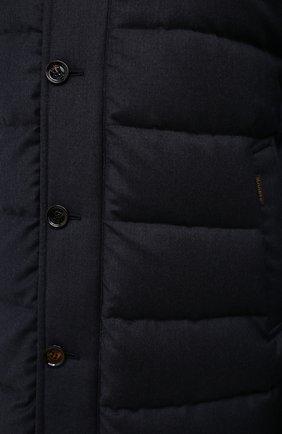 Мужская пуховик из шерсти и кашемира alfieri-fur-l MOORER темно-синего цвета, арт. ALFIERI-FUR-L/M0UGI100104-TEPA217 | Фото 5 (Кросс-КТ: Куртка; Мужское Кросс-КТ: пуховик-длинный; Материал внешний: Шерсть; Рукава: Длинные; Длина (верхняя одежда): До колена; Стили: Классический; Материал подклада: Синтетический материал; Материал утеплителя: Пух и перо)