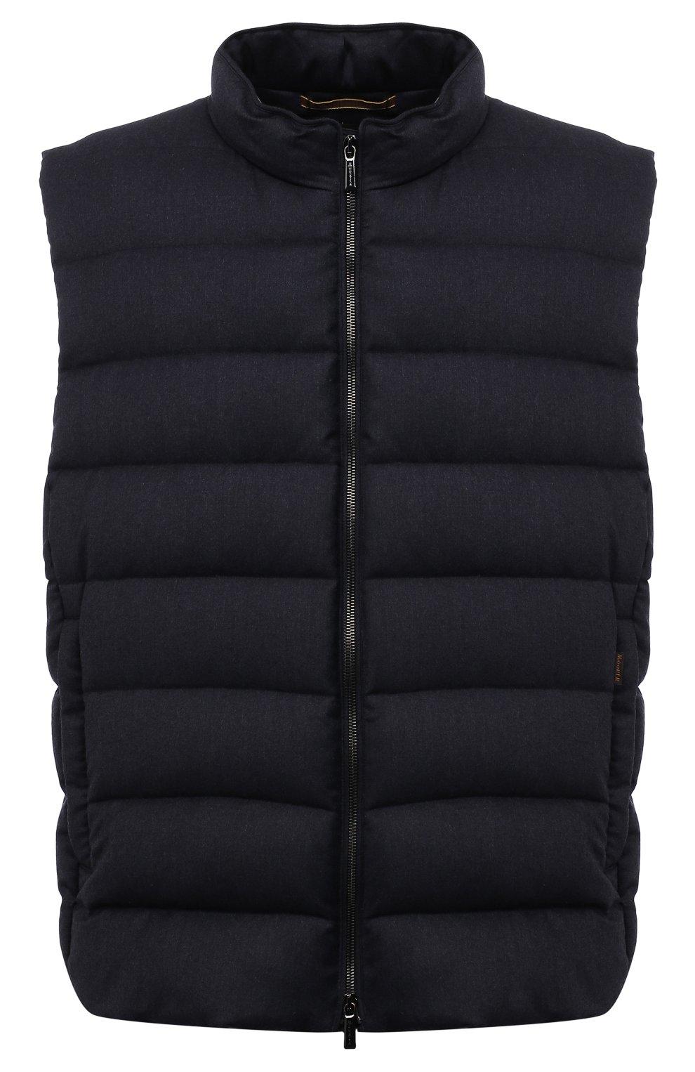 Мужской пуховый жилет oliver-l MOORER темно-синего цвета, арт. 0LIVER-L/M0UGL100050-TEPA217/60-68 | Фото 1 (Кросс-КТ: Куртка, Пуховик; Big sizes: Big Sizes; Материал внешний: Шерсть; Материал подклада: Синтетический материал; Длина (верхняя одежда): Короткие; Материал утеплителя: Пух и перо; Стили: Кэжуэл)