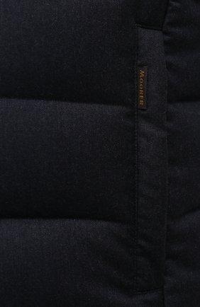 Мужской пуховый жилет oliver-l MOORER темно-синего цвета, арт. 0LIVER-L/M0UGL100050-TEPA217/60-68 | Фото 5 (Кросс-КТ: Куртка, Пуховик; Big sizes: Big Sizes; Материал внешний: Шерсть; Материал подклада: Синтетический материал; Длина (верхняя одежда): Короткие; Материал утеплителя: Пух и перо; Стили: Кэжуэл)