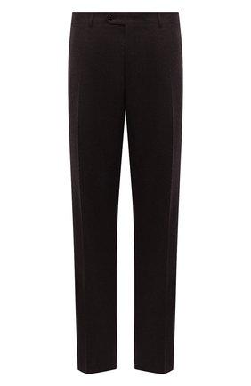 Мужские шерстяные брюки CANALI темно-коричневого цвета, арт. 71019/AA02161/60-64   Фото 1