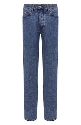 Мужские джинсы BERLUTI синего цвета, арт. R20TDU38-001   Фото 1 (Материал внешний: Хлопок; Длина (брюки, джинсы): Стандартные; Силуэт М (брюки): Прямые; Стили: Кэжуэл; Кросс-КТ: Деним)
