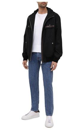 Мужские джинсы BERLUTI синего цвета, арт. R20TDU38-001   Фото 2 (Материал внешний: Хлопок; Длина (брюки, джинсы): Стандартные; Силуэт М (брюки): Прямые; Стили: Кэжуэл; Кросс-КТ: Деним)
