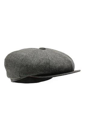 Мужская шерстяное кепи BRUNELLO CUCINELLI серого цвета, арт. M038P9945   Фото 1 (Материал: Шерсть)