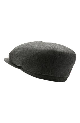 Мужская шерстяное кепи BRUNELLO CUCINELLI серого цвета, арт. M038P9945   Фото 2 (Материал: Шерсть)