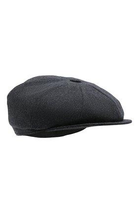 Мужская шерстяное кепи BRUNELLO CUCINELLI темно-синего цвета, арт. M038P9945   Фото 1 (Материал: Шерсть)