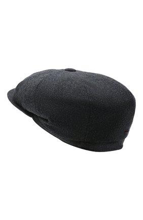 Мужская шерстяное кепи BRUNELLO CUCINELLI темно-синего цвета, арт. M038P9945   Фото 2 (Материал: Шерсть)