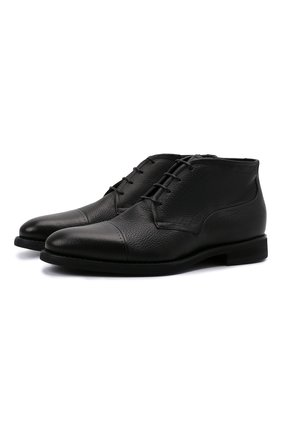 Мужские кожаные ботинки BARRETT черного цвета, арт. 132U076.19/CERV0 | Фото 1