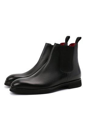 "Мужские кожаные челси BARRETT черного цвета, арт. 192U054.11/VITELL0 "" F"" | Фото 1"