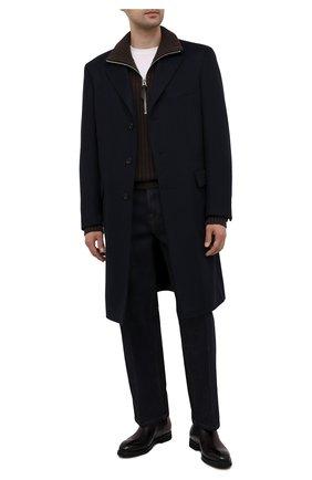 Мужские кожаные челси BARRETT бордового цвета, арт. 192U054.18/BETIS CREAM | Фото 2
