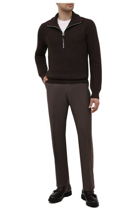 Мужские кожаные монки BARRETT бордового цвета, арт. 202U044.28/BETIS CREAM | Фото 2