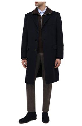 Мужские замшевые челси BARRETT темно-синего цвета, арт. 202U047.10/REPELL0 0IL | Фото 2
