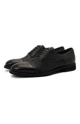 Мужские кожаные дерби BARRETT черного цвета, арт. 211U055.8/CERV0 | Фото 1