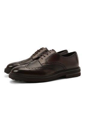 Мужские кожаные дерби H`D`S`N BARACCO темно-коричневого цвета, арт. 81216.B.0* | Фото 1