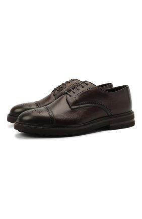 Мужские кожаные дерби H`D`S`N BARACCO темно-коричневого цвета, арт. 81218.L.0* | Фото 1