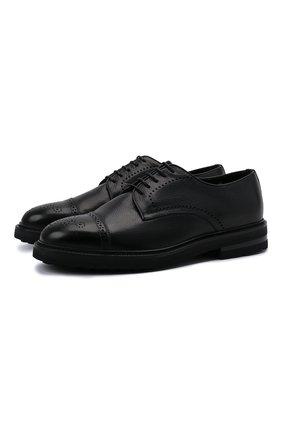 Мужские кожаные дерби H`D`S`N BARACCO черного цвета, арт. 81218.L.1* | Фото 1