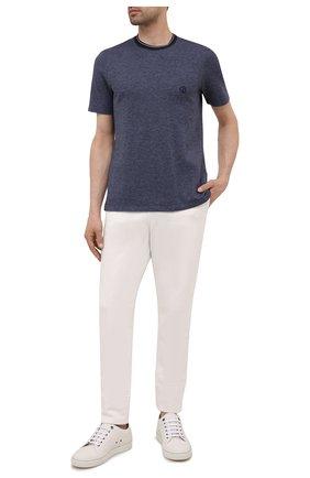 Мужская футболка из хлопка и кашемира GIORGIO ARMANI темно-синего цвета, арт. 6KSM63/SJVJZ | Фото 2