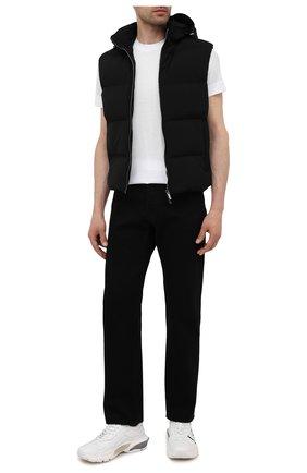 Мужская футболка EMPORIO ARMANI белого цвета, арт. 6K1T70/1JUVZ | Фото 2 (Материал внешний: Хлопок, Лиоцелл; Стили: Кэжуэл; Рукава: Короткие; Длина (для топов): Стандартные)