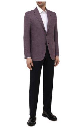 Мужская хлопковая сорочка BRIONI белого цвета, арт. RCB40L/P7003 | Фото 2 (Материал внешний: Хлопок; Длина (для топов): Стандартные; Рукава: Длинные; Случай: Формальный; Рубашки М: Regular Fit; Стили: Классический; Воротник: Кент)