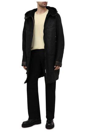 Мужская дубленка ISAAC SELLAM черного цвета, арт. NE0PHYTE-STRAK H22   Фото 2