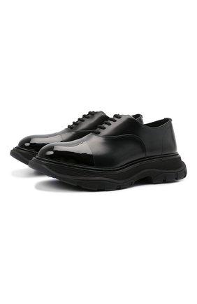 Мужские кожаные оксфорды ALEXANDER MCQUEEN черного цвета, арт. 610815/WHZ83 | Фото 1