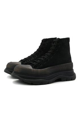 Мужские текстильные кроссовки ALEXANDER MCQUEEN черного цвета, арт. 662671/W4Q31 | Фото 1