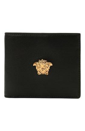 Мужской кожаное портмоне VERSACE черного цвета, арт. DPU2463/DVT8ME | Фото 1