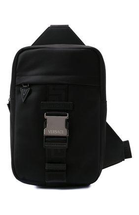Мужской текстильный рюкзак greca VERSACE черного цвета, арт. 1000740/DNYGR3 | Фото 1