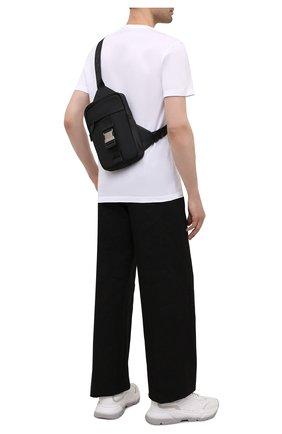 Мужской текстильный рюкзак greca VERSACE черного цвета, арт. 1000740/DNYGR3 | Фото 2