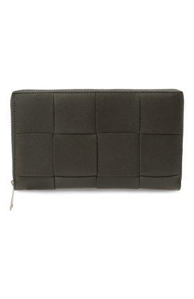 Мужской кожаное портмоне BOTTEGA VENETA темно-серого цвета, арт. 649607/VBWD2 | Фото 1