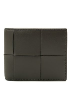 Мужской кожаное портмоне BOTTEGA VENETA темно-серого цвета, арт. 649603/VBWD2 | Фото 1