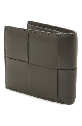 Мужской кожаное портмоне BOTTEGA VENETA темно-серого цвета, арт. 649603/VBWD2 | Фото 2