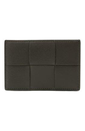 Мужской кожаный футляр для кредитных карт BOTTEGA VENETA темно-серого цвета, арт. 649597/VBWD3 | Фото 1