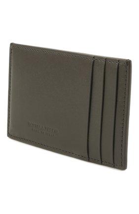 Мужской кожаный футляр для кредитных карт BOTTEGA VENETA темно-серого цвета, арт. 649597/VBWD3 | Фото 2