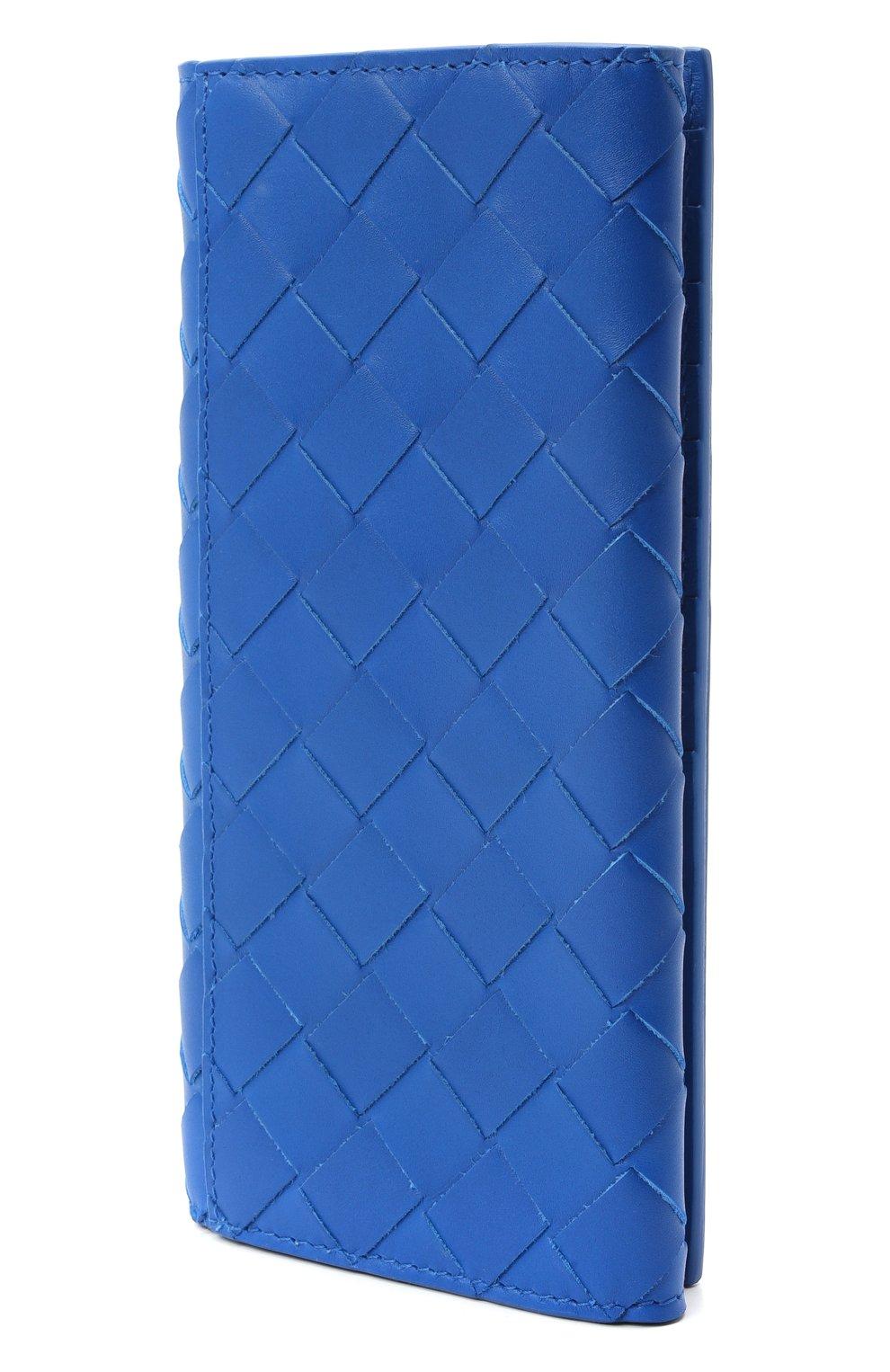 Мужской кожаное портмоне BOTTEGA VENETA синего цвета, арт. 635567/VCPQ4 | Фото 2