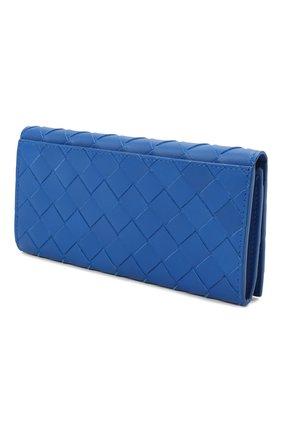 Мужской кожаное портмоне BOTTEGA VENETA синего цвета, арт. 635567/VCPQ4 | Фото 5