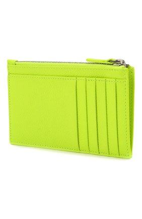 Мужской кожаный футляр для кредитных карт BALENCIAGA светло-зеленого цвета, арт. 640535/2UQ13 | Фото 2