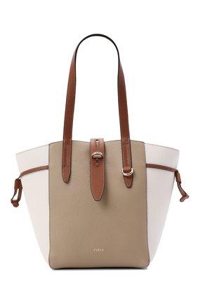 Женский сумка-тоут furla net medium FURLA бежевого цвета, арт. BZT0FUA/HSC000   Фото 1