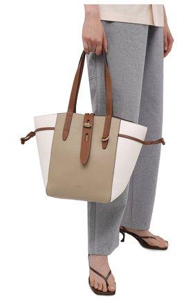 Женский сумка-тоут furla net medium FURLA бежевого цвета, арт. BZT0FUA/HSC000   Фото 2